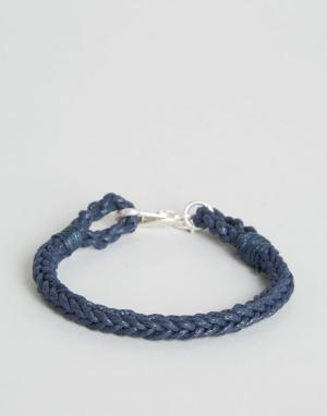 Jack Wills Плетеный браслет Glencothe. Цвет: темно-синий
