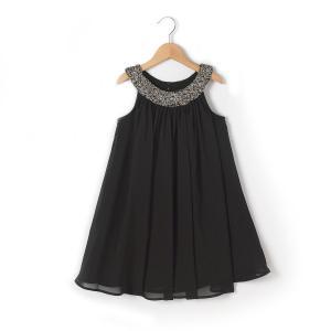 Платье с украшением R kids. Цвет: черный