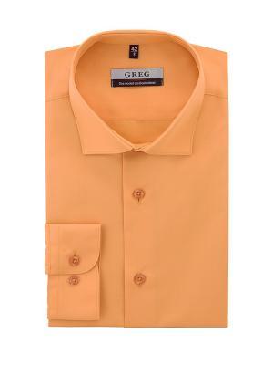 Рубашка GREG. Цвет: оранжевый