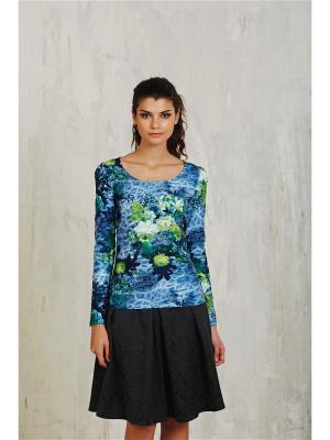Блузка Miss & Missis. Цвет: зеленый