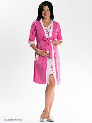 Комплект для беременных и кормления Nuova Vita. Цвет: розовый, белый