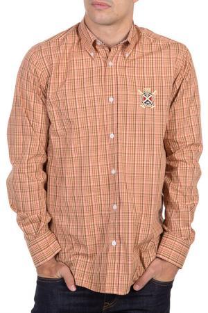 Рубашка POLO CLUB С.H.A.. Цвет: orange and brown