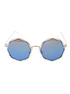 Солнцезащитные очки IQ Format. Цвет: синий, серебристый