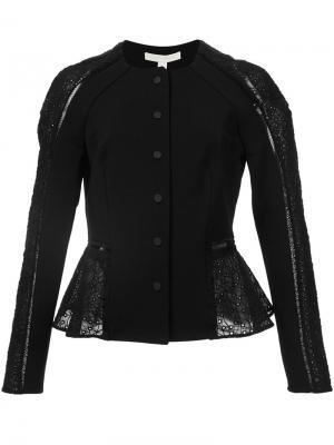 Укороченный пиджак с вышивкой макраме Jonathan Simkhai. Цвет: чёрный