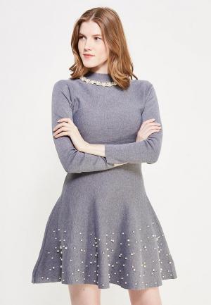 Платье Miss & Missis. Цвет: серый