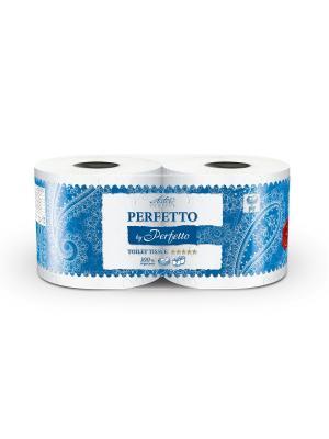 Туалетная бумага Aster Perfetto by 2 рул., 5-слойная. Цвет: синий