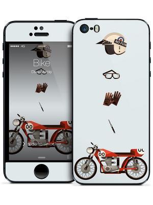 Наклейка для iPhone 5/5S Bike - Dave Murray Gelaskins. Цвет: светло-голубой