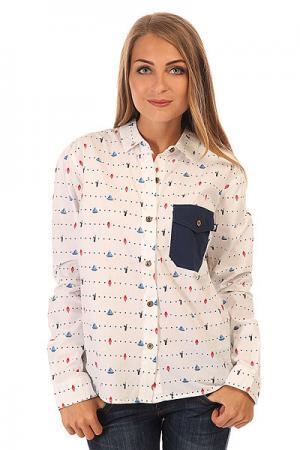 Рубашка женская  Annie White Picture Organic. Цвет: белый