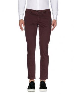 Повседневные брюки JULIAN KEEN. Цвет: красно-коричневый