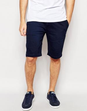 Pepe Heritage Темно-синие шорты с отворотами Jeans McQueen. Цвет: синий