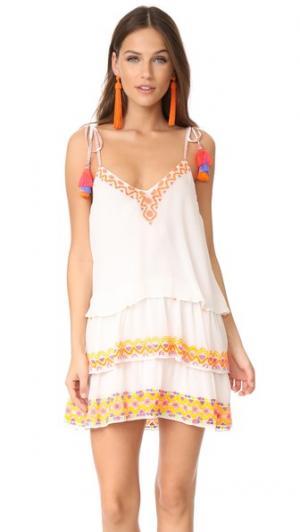 Короткое платье Hemant and Nandita. Цвет: белый