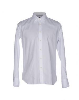 Джинсовая рубашка BEVILACQUA. Цвет: белый
