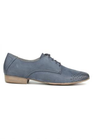 Ботинки на шнурках Tamaris. Цвет: синий