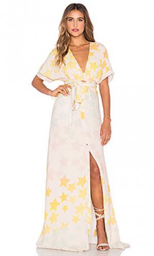 Платье с завязкой спереди Mara Hoffman. Цвет: розовый