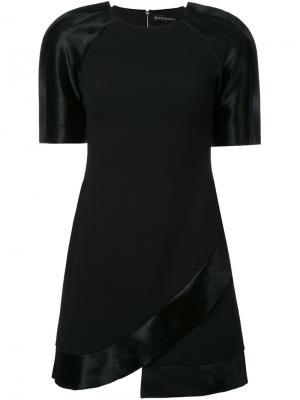 Платье с контрастными рукавами David Koma. Цвет: чёрный