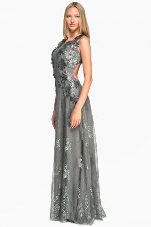 Кружевное платье 133535 Lolita Shonidi. Цвет: серый