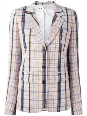 Notched lapel check blazer Aalto. Цвет: многоцветный