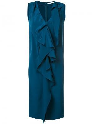 Платье с оборками Audra. Цвет: синий