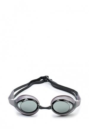 Очки для плавания Speedo. Цвет: серебряный