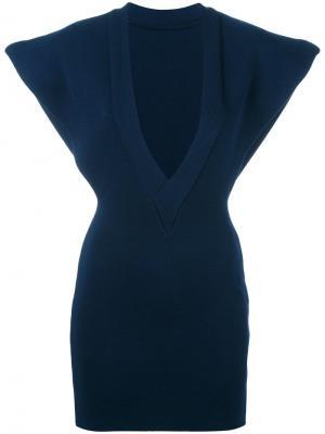 Блузка с V-образным вырезом Jacquemus. Цвет: синий