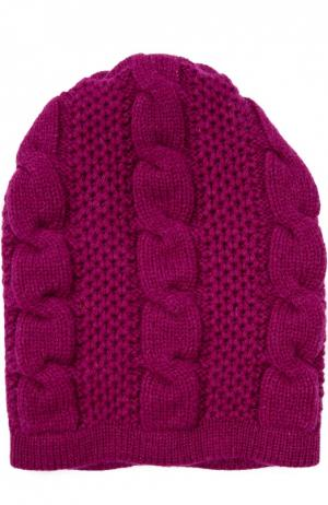 Вязаная шапка из кашемира Kashja` Cashmere. Цвет: фуксия