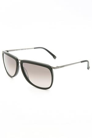 Солнцезащитные очки Lacoste. Цвет: черный