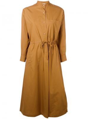 Платье с запахом Veronique Leroy. Цвет: коричневый
