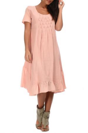 Платье Couleur lin. Цвет: розовый