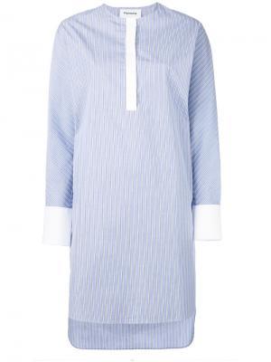 Платье-рубашка без воротника Harmony Paris. Цвет: синий