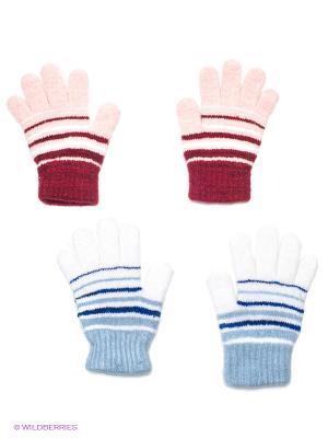 Перчатки, 2 пары FOMAS. Цвет: голубой, розовый