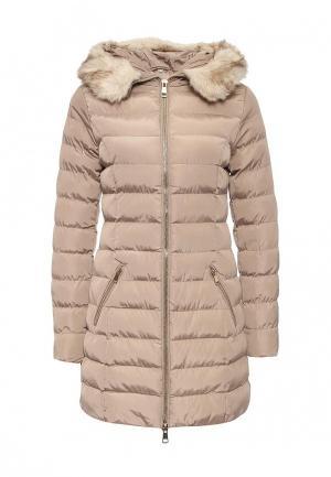 Куртка утепленная B.Style. Цвет: бежевый