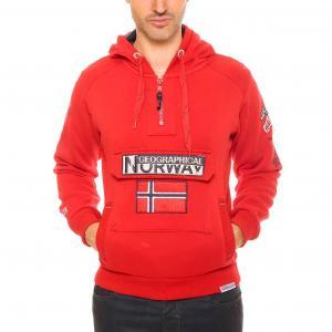 Свитшот с капюшоном GEOGRAPHICAL NORWAY. Цвет: красный,темно-синий