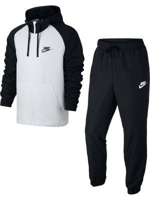 Спортивный костюм M NSW TRK SUIT HD WVN Nike. Цвет: черный, белый