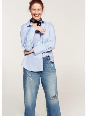 Рубашка Violeta by Mango. Цвет: голубой, синий