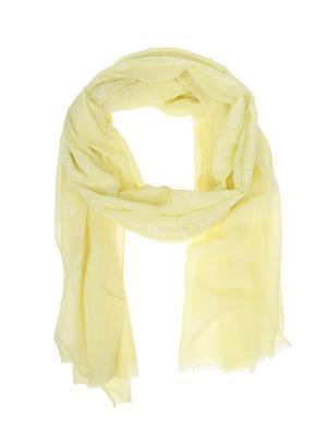 Палантин Migura. Цвет: желтый, белый