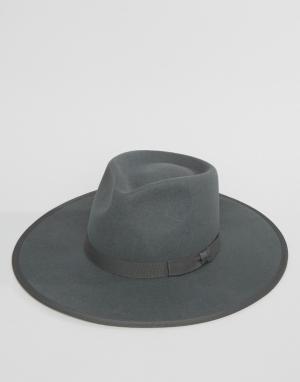 Brixton Мягкая фетровая шляпа Homestead. Цвет: серый