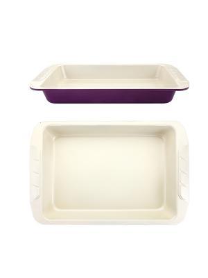 Противень для выпечки  40х25,5х5см Augustin Welz. Цвет: фиолетовый, молочный