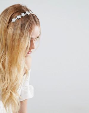 New Look Повязка на голову с отделкой камнями. Цвет: белый