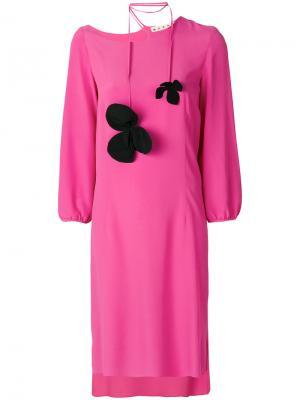 Платье с завязками Marni. Цвет: розовый и фиолетовый