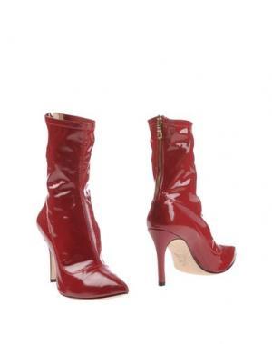 Полусапоги и высокие ботинки L'ARIANNA. Цвет: красный
