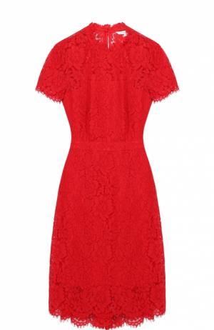 Приталенное кружевное платье с укороченным рукавом Diane Von Furstenberg. Цвет: красный