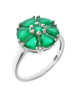 Кольцо BALEX. Цвет: зеленый,серебристый