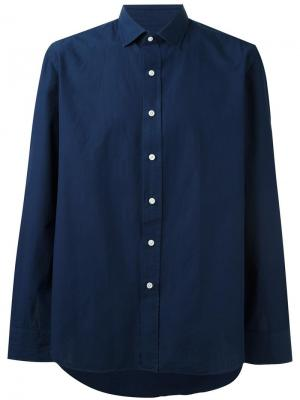 Спортивная рубашка Salvatore Piccolo. Цвет: синий