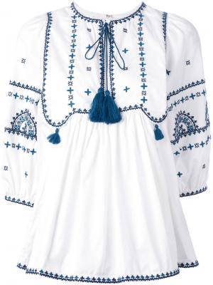 Блузка Sindhi Talitha. Цвет: белый