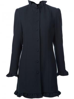 Пальто с рюшами JW Anderson. Цвет: синий