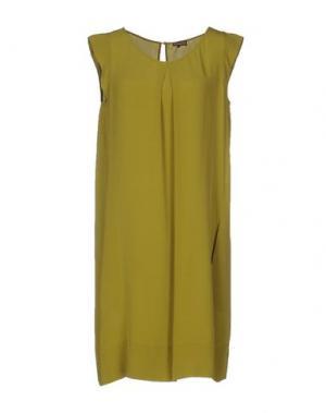 Короткое платье MALÌPARMI. Цвет: зеленый