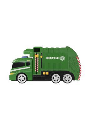 Машинка Roadsterz Мусоровоз со светом и звуком HTI. Цвет: зеленый