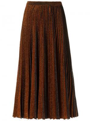 Midi knitted skirt Gig. Цвет: коричневый