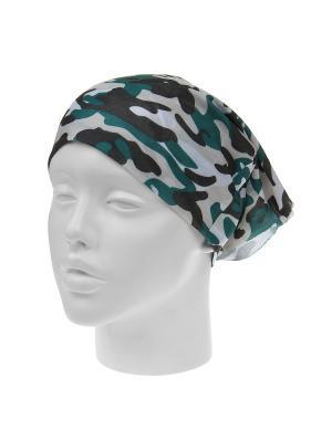 Повязка на голову Infiniti. Цвет: зеленый, белый, хаки