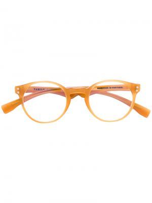 Очки в круглой оправе Family Affair. Цвет: жёлтый и оранжевый